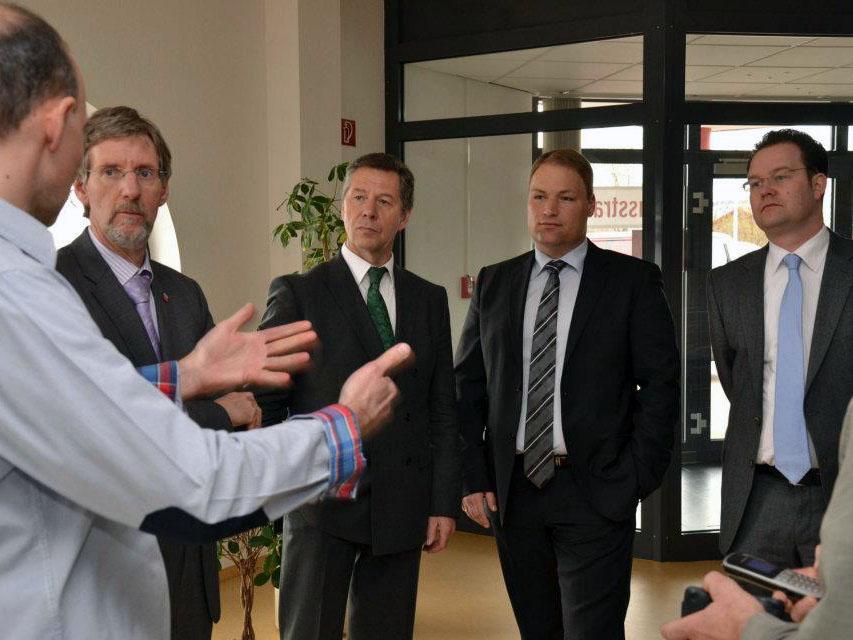 Firmenbesuch mit Finanzminister Voss und Landrat Gießmann in Gotha