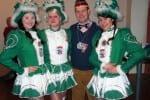 Mit Gardemädchen aus Seebergen beim Kreiskarnevalsumzug