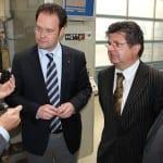 Firmenbesuch in Waltershausen mit Bürgermeister Michael Brychcy
