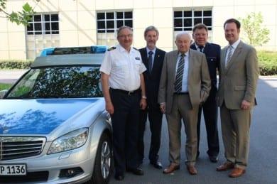 Mit Dr. Günther Beckstein bei der Polizei in Gotha