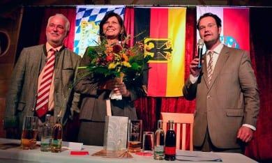 Mit Bundeslandwirtschaftsministerin Ilse Aigner im Bratwurstmuseum in Holzhausen