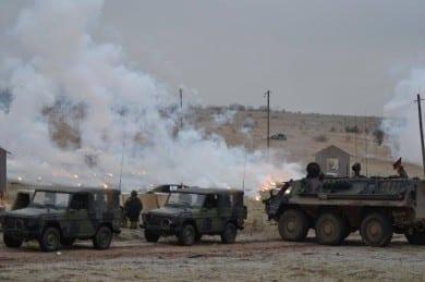 Gefechtsschießen auf dem Truppenübungsplatz Ohrdruf