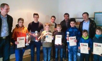 Urkundenüberreichung bei der Jungzüchter-Geflügelausstellung in Friedrichswerth
