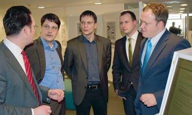 Mit Dr. Mario Voigt und Andreas Bühl zum Gespräch in der Universitätsbiliothek der TU Ilmenau