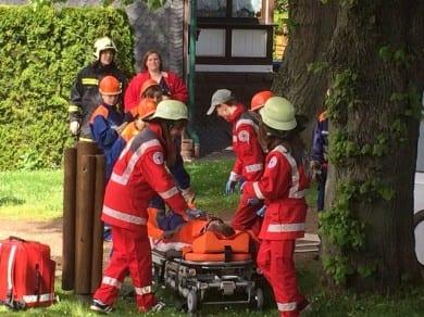 Rettungsvorführung beim Feuerwehrjubiläum  in Tabarz