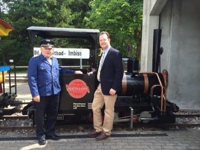 Die Parkeisenbahn in Finsterbergen fährt endlich wieder!