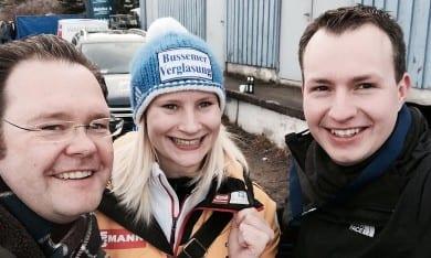 Beim Rodeln in Oberhof mit Dajana Eitberger und Andreas Bühl
