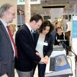 Auf der CeBIT mit Prof. Dr. Karlheinz Brandenburg und Dr. Estefanía Cano Cerón