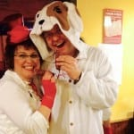 Als MP-Hund Attila beim Weiberfasching in Siebleben