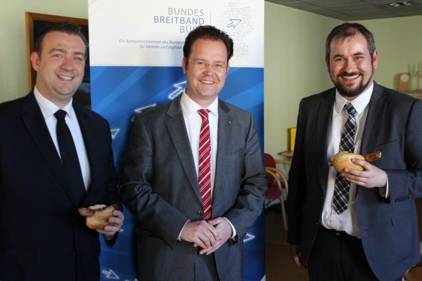 Mit Vertretern des Breitbandbüros in Gotha