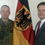 Treffen mit dem Kommandeur der Gothaer Fiedenstein-Kaserne, Wolgang Gabriel