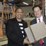 Besuch bei PolyCare mit dem namibischen Botschafter Andreas B.D. Guibeb