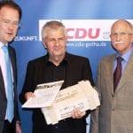 Roland Jahn (Mitte) zu Gast bei der Senioren-Union in Gotha