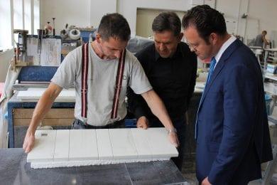 Besuch bei KMD Natursteine GmbH & Co.KG