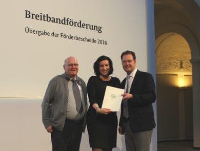 Fördermittelübergabe in Berlin für den Breitbandausbau im Ilm-Kreis und Gotha