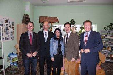 Der neue Vorstand der CDU Ilm-Kreis mit dem Vorsitzenden Tankred Schipanski, den Stellvertretern und Landesvize Dr. Mario Voigt